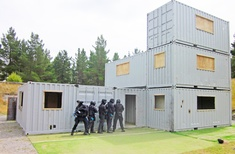 Police use shipping containers for training