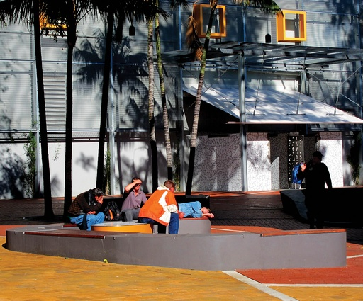 While it is still frequented by the homeless, the park encourages the whole community to use the space.