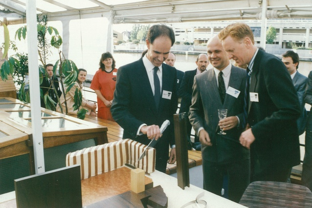 Steve Ashton, Ian McDougall and Howard Raggatt launch ARM Architecture (1988).