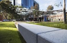 Amanda Levete Architects' MPavilion relocated to MALA-designed Docklands park