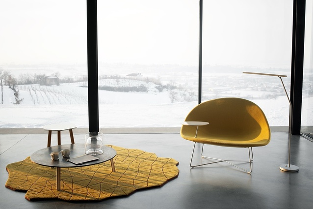 Isola chair and table.