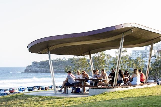 Bondi Beach Picnic Shelters by Tonkin Zulaikha Greer Architects.