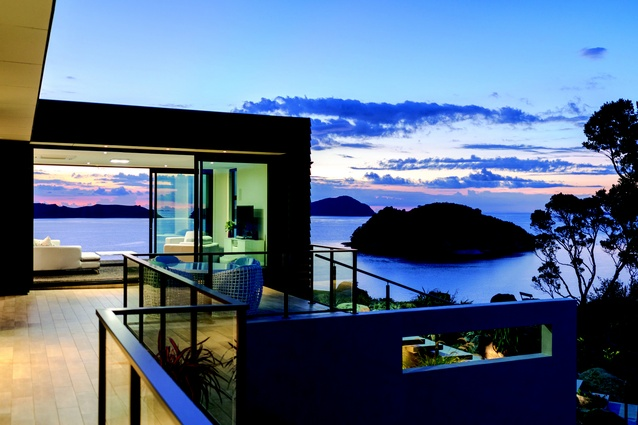 The Coromandel house has views over the South Pacific Ocean.