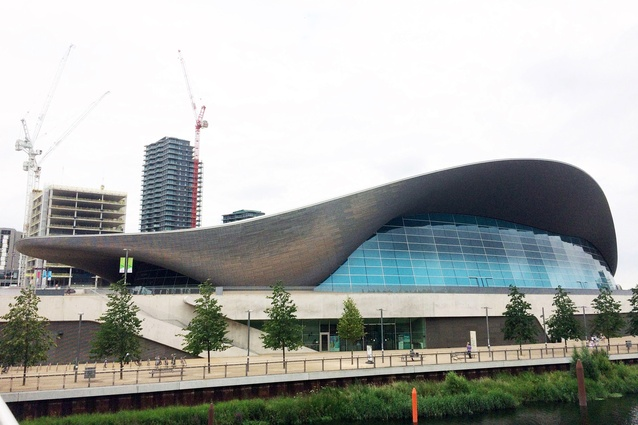 London Aquatic Centre by Zaha Hadid Architects.