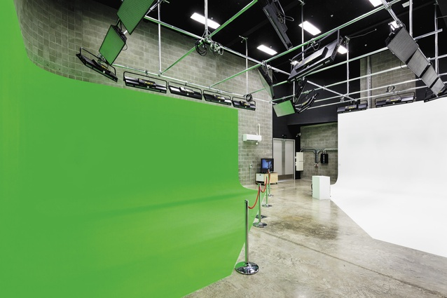 The 'green and white' room, another of the building's studios.