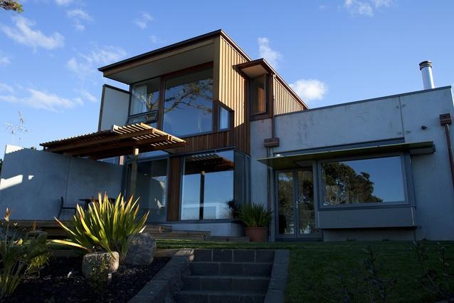 Lake Pupuke House by Mitchell & Stout Architects.