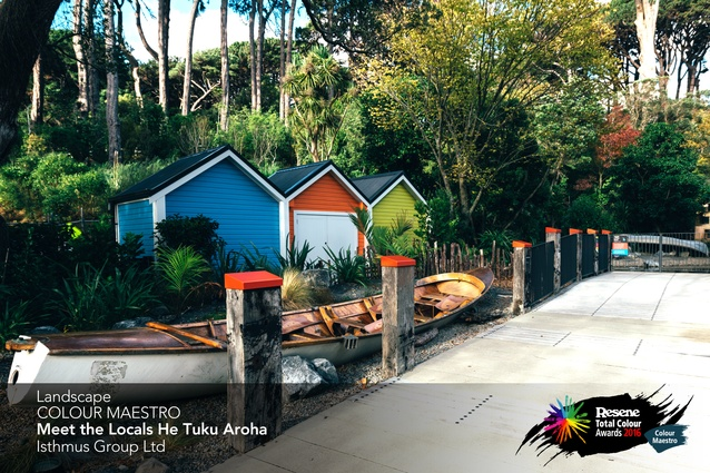 Landscape Colour Maestro Award winner: Meet the Locals – He Tuku Aroha by Isthmus Group.