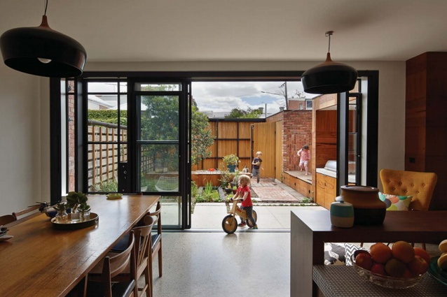 Inside the Cubo House in Fitzroy North, Melbourne.