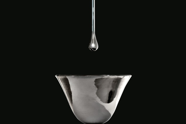 Gessi Goccia ceiling-mounted faucet from Abey.