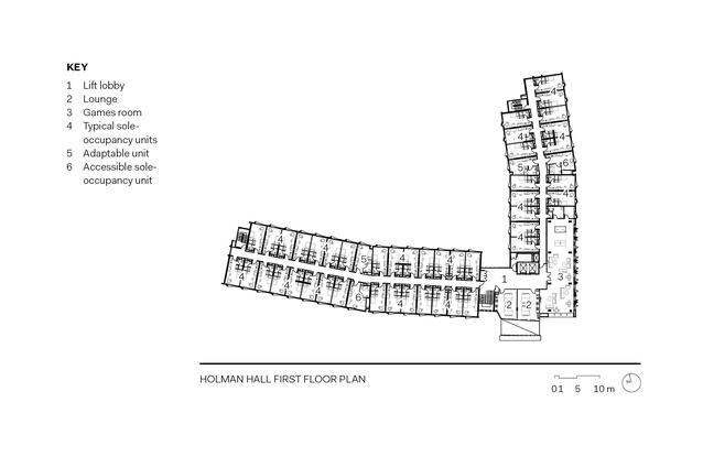 Holman Hall first floor plan.