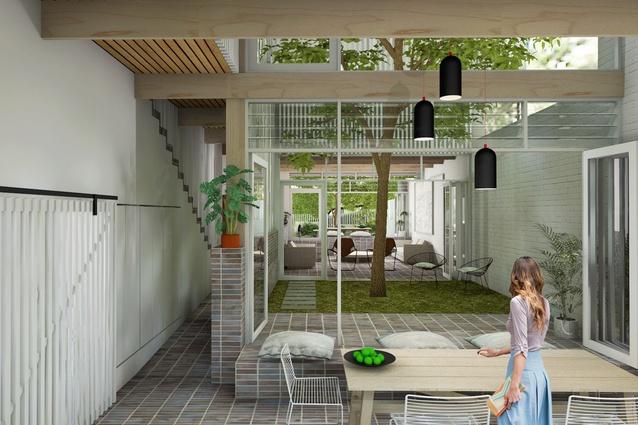Terraces runner up: Olivia van Dijk Architecture.