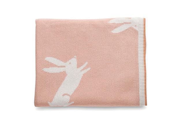 "Jackrabbit Cotton Knit Cot Blanket | $90 from <a  href=""https://www.cittadesign.com/child/sleep/baby-blankets-wraps/jackrabbit-cotton-knit-cot-blanket-KGP0019"" target=""_blank""><u>cittadesign.com</u></a>"