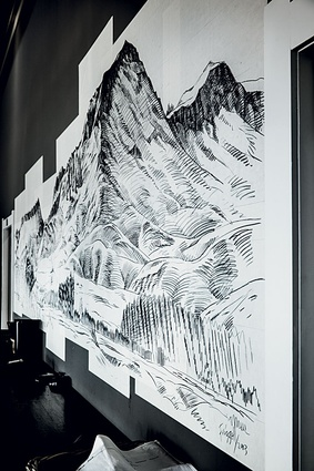 A drawing in the office.
