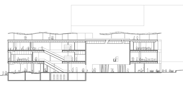 Section of Felix Laboratories' (Fremantle) proposed library building.