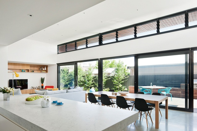 Elsternwick extension architectureau - Open plan living small spaces ...