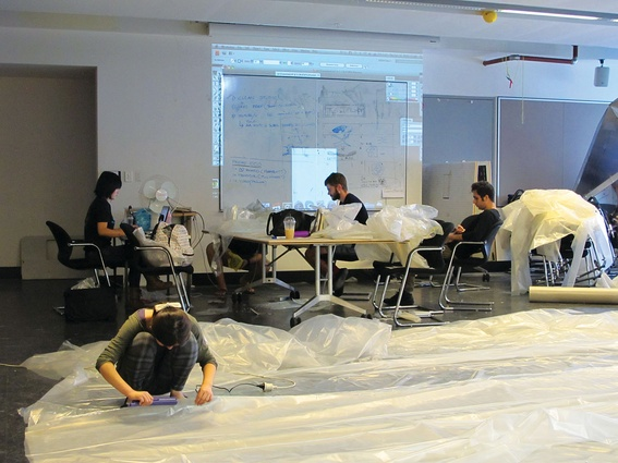 Participants created 1:1 prototype inhabitable, floatable spaces.