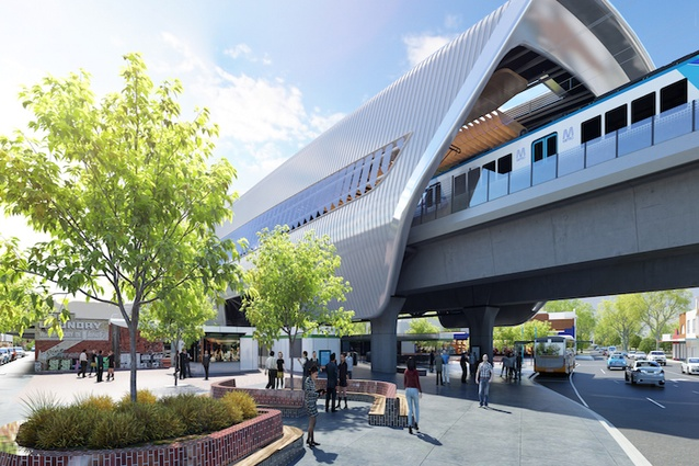 The design for Murumbeena Station by Cox Architecture.