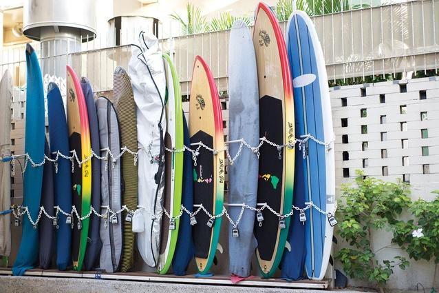 Surfboard storage, Hawaiian-style.