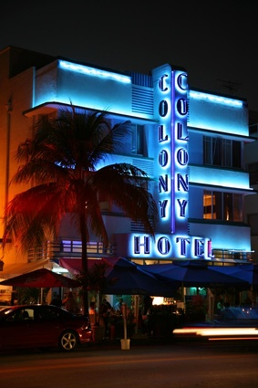 The Colony hotel in South Beach.