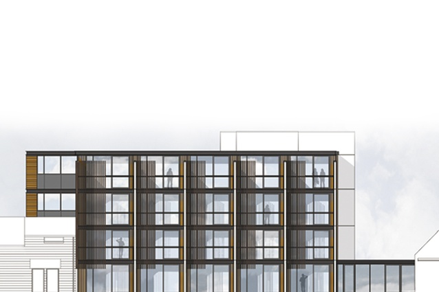 Completion date – November 2012. Commodore Hotel 20 Room addition by Wilson & Hill, 447 Memorial Avenue. The building meets the new structural code for Christchurch and went through a specialist seismic design analysis.