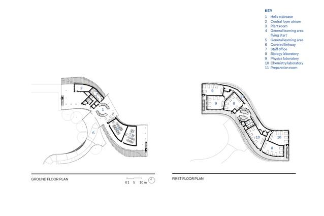 Floor plans of Trinity Anglican School Science Building