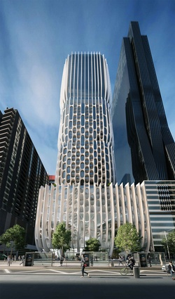 Proposed tower for 582–606 Collins Street, Melbourne by Zaha Hadid Architects and Plus Architecture.