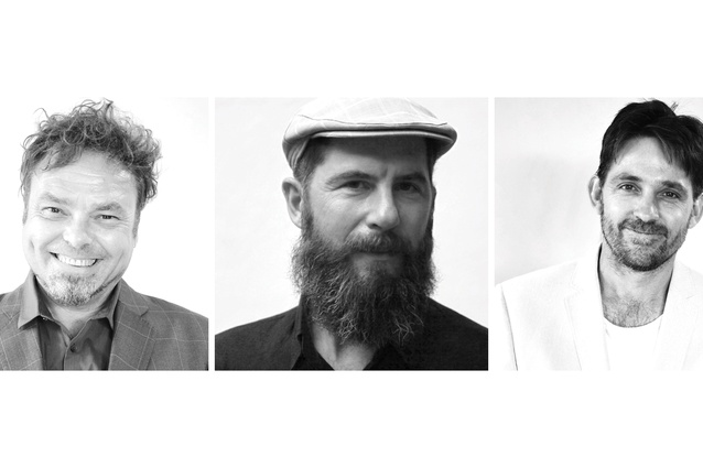 The new members of the McGregor Coxall Senior Design Team: Christian Borchert, David Knights and Tom Rivard.