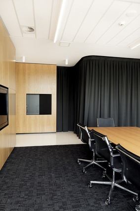 Lower level meeting rooms and boardroom.