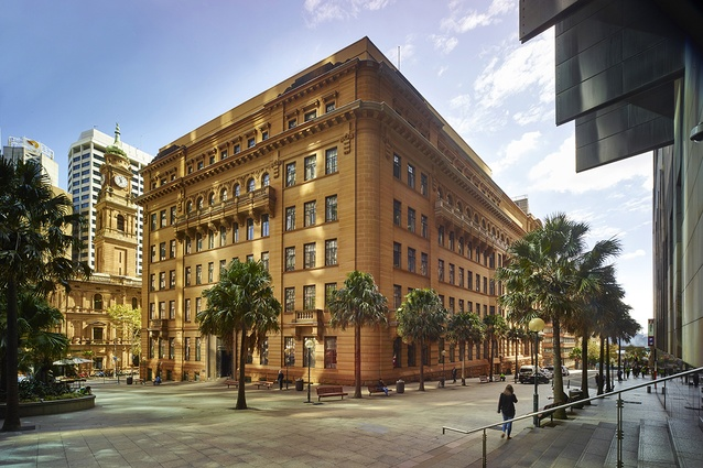 The heritage-listed sandstone buildings on Bridge Street in Sydney, which will be transformed into a hotel designed by Make.