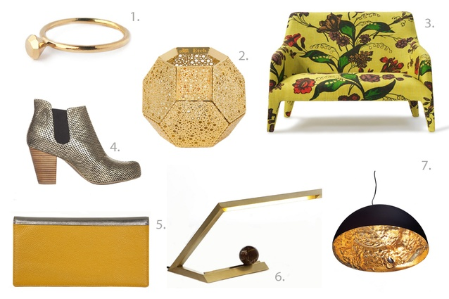 A selection of this season's gilt-y pleasures.
