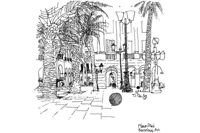 Ken Woolley <em>Plaza Reil, Barcelona, 1996.</em>