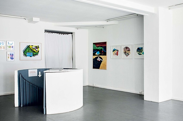 The small upper-level gallery space.