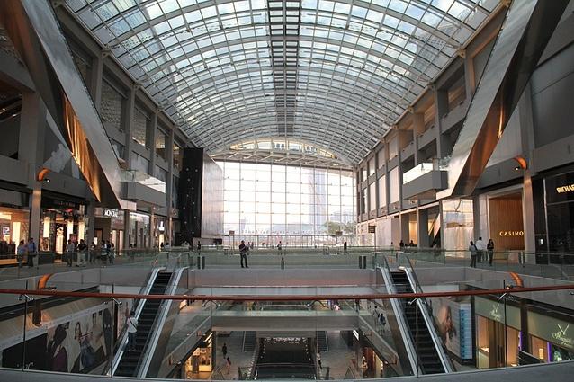 Marina Bay Sands shopping centre: killer escalators.