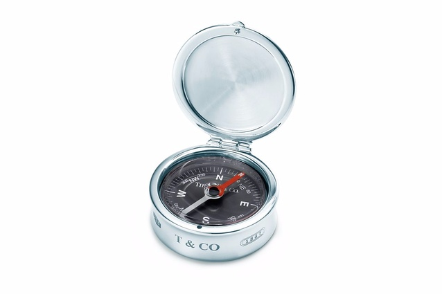 Compass, in sterling silver