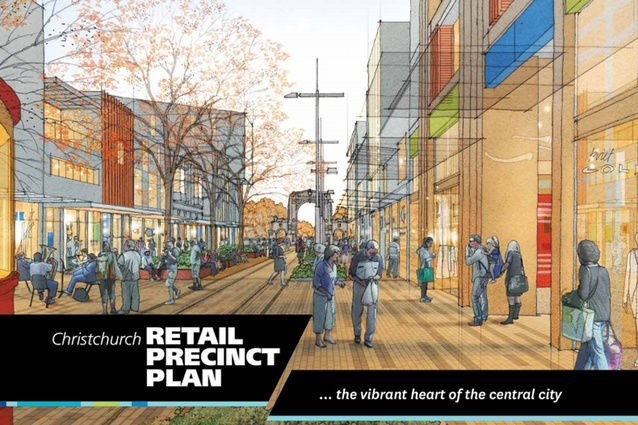Retail precinct master plan, 2014 by Athfield Architects and CERA's Christchurch Central Development Unit alongside a specialist consultant team, land owners and key stakeholders.