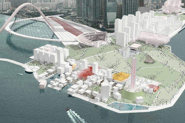 West Kowloon Cultural District in Hong Kong.