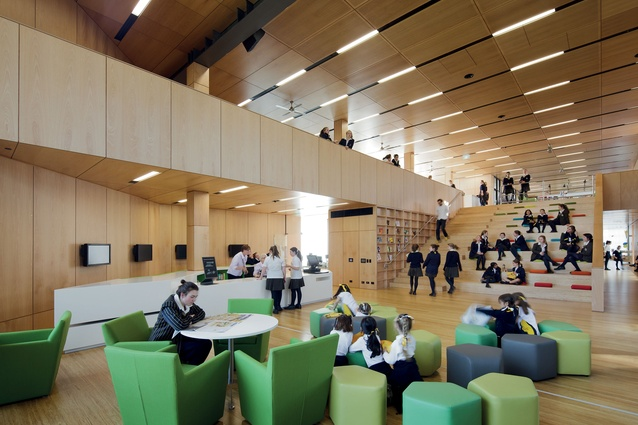 Ravenswood School for Girls, Mabel Fidler Building by BVN, recipient of the 2015 Award for Interior Design Impact.