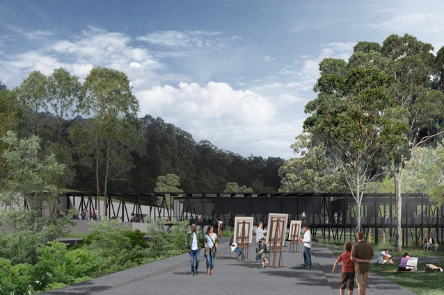A common forecourt will unite the existing and new buildings on the site.