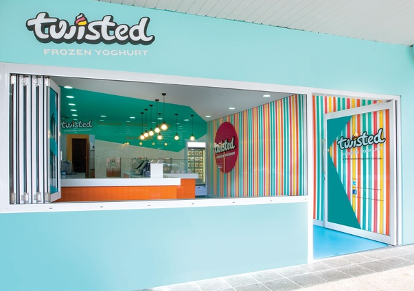 Twisted Frozen Yoghurt by Morris Selvatico.