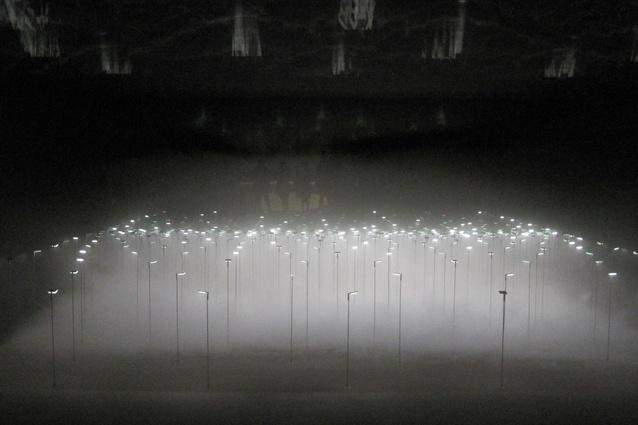 <em>Infuse</em> lighting installation by architect Chikara Ohno, lighting designer Izumi Okayasu and textile designer Yoko Ando for Kaneka.