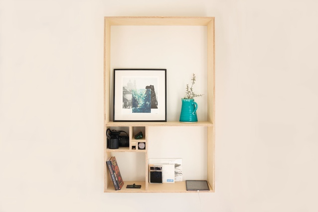 The made-to-order Golden shelf is made from birch ply.