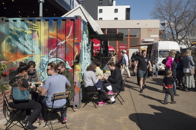 The Hamlet, a gathering of businesses and temporary spaces offering street food from around the world.