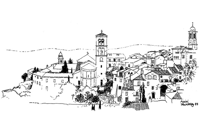Ken Woolley <em>Assisi, Umbria, 1983.</em>