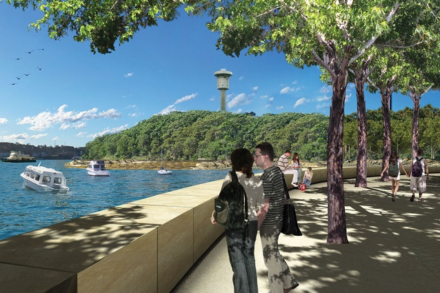A render of the proposed Northern Cover at Headland Park.