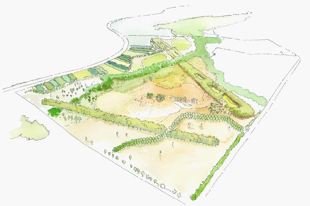 Concept plan of Bungarribee parklands.