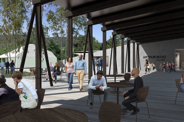 The bridge structure will be made from a hybrid of timber and steel.