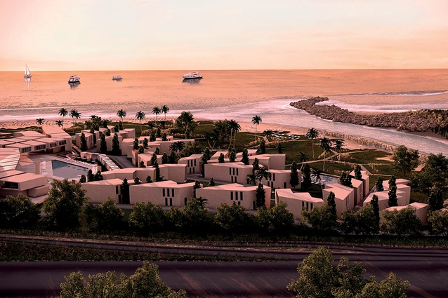 SOMA's proposed Nikki Beach luxury resort would sit at the terminus of the Damour River in Lebanon, about 20km south of Beirut, offering views of the Mediterranean and the river.
