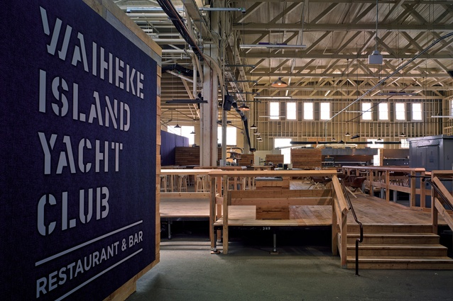 The Waiheke Island Yacht Club in San Francisco's Pier 29 Building.