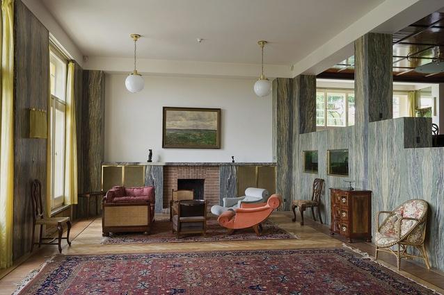 Adolf Loos, Villa Müller (1928–1930), Prague. Large salon.