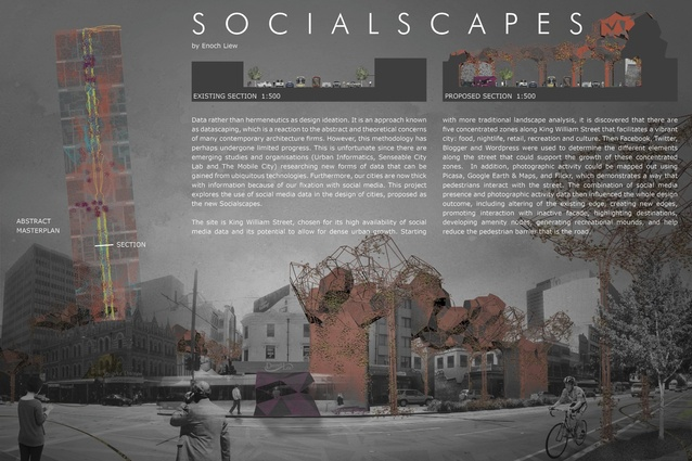 Enoch Liew's award-winning project Socialscape.